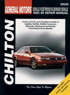 Chilton Deville / Fleetwood / Eldorado / Seville 1990-1998 Repair Manual (28540)