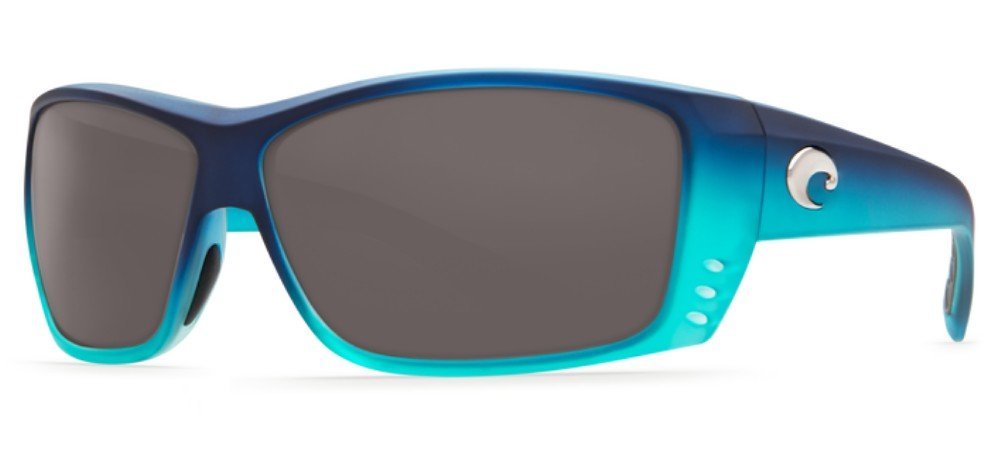 Costa Del Mar Cat Cay Sunglasses Matte Caribbean Fade//Gray 580Glass Pro-Motion Distributing Direct AT73OGGLP