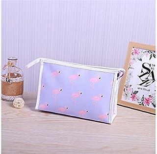 HOUHOUNNPO Sac de Rangement Flamingo Motif Sac cosmétique Sac de Maquillage Sac Pochette pour Les Femmes (Violet) Pochette Cosmétique Femme