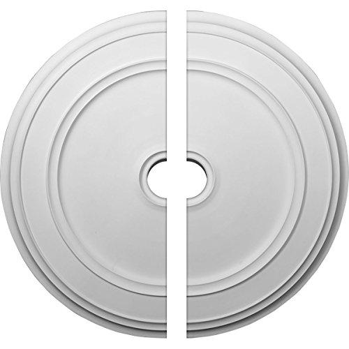 Ekena Millwork CM41CL2 41 1/8''OD x 4''ID x 2 1/8''P Classic Ceiling Medallion, Fits Canopies up to 5-1/2'', 2 Piece by Ekena Millwork