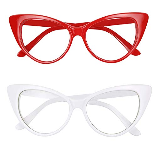 99ef72a6d ShadyVEU - Super Cat Eye Vintage Inspired Fashion Mod Clear Lens Sunglasses