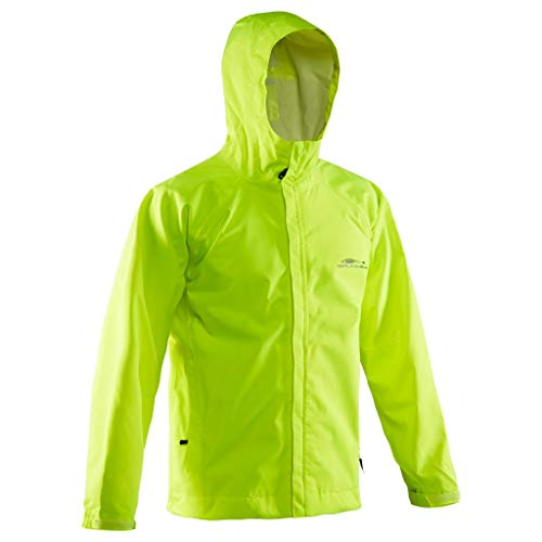 Yellow Mens Performance Jacket - Grundéns Men's Weather Watch Hooded Fishing Jacket, Hi Vis Yellow, XX-Large