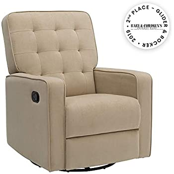 Swell Amazon Com Davinci Piper Upholstered Recliner And Swivel Squirreltailoven Fun Painted Chair Ideas Images Squirreltailovenorg