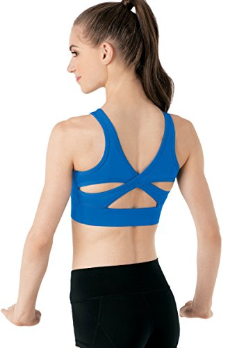 Balera FlexTek Top Womens Crop Top For Dance Girls Bra Top With Wide Straps and Strappy Back High Support
