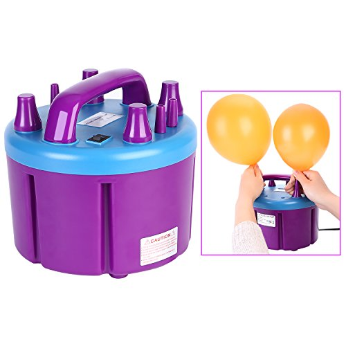 Maddott Electric Balloon Blower Pump Automatic Inflator 110V 1000W 23000pa for Wedding Party Holiday Decoration, Purple