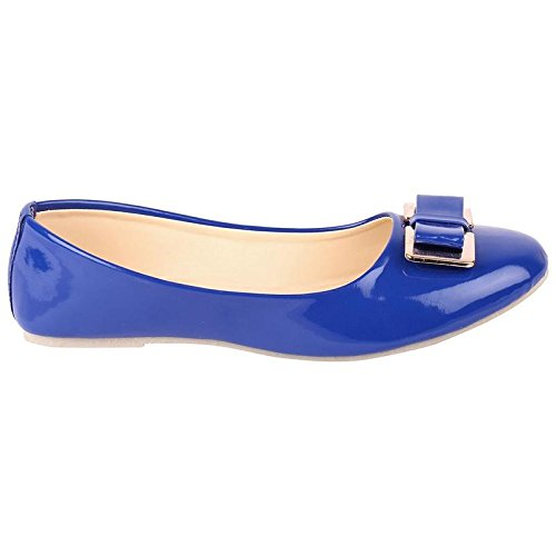 cca037b3d85e StepIndia Stunning Pair of Shining Artificial Leather Bow Front Ballet  Bellies for Women and Girls