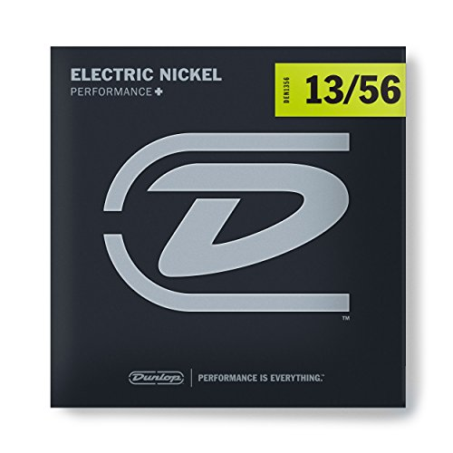 Dunlop DEN1356 Nickel Wound Electric Guitar Strings, Extra Heavy, .013-.056, 6 Strings/Set