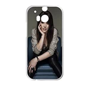 Celebrities Hilary Duff HTC One M8 Cell Phone Case White phone component AU_530480