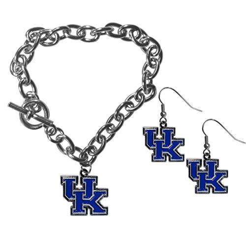 - Siskiyou NCAA Kentucky Wildcats Chain Bracelet & Dangle Earring Set