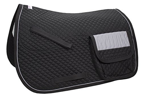 Derby Originals All Purpose Quilted English Saddle Pad with Reflective Pockets