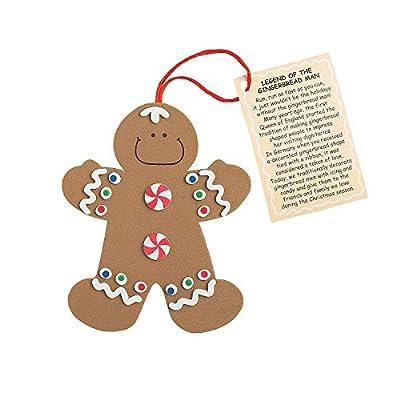 Fun Express Legend The Gingerbread Man 12 Foam Ornament Craft Kit