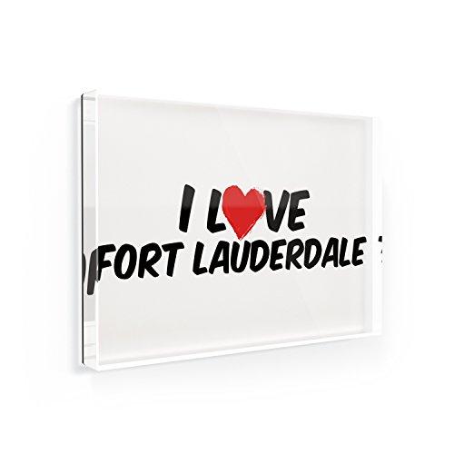 Fridge Magnet I Love Fort Lauderdale - NEONBLOND (Refrigerator Magnet Fort Lauderdale)
