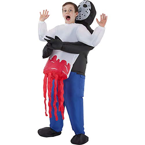 AFG Media Ltd Inflatable Serial Killer Pick-Me-Up Costume for Children, Standard Size, Includes a Jumpsuit and Batteries