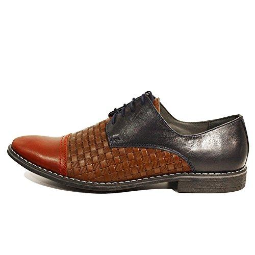 Modello Lino - Cuero Italiano Hecho A Mano Hombre Piel Vistoso Zapatos Vestir Oxfords - Cuero Cuero repujado - Encaje