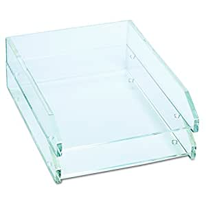 Kantek  Acrylic Double Letter Tray, 4 3/4 x 14 x 10 1/2 Inches , Clear (AD15)