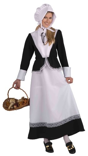 Forum Novelties Plymouth Pilgrim Woman Costume, Black, Standard (Colonial Day Costumes)
