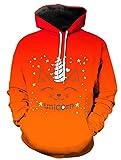 KIDVOVOU Unicorn Hoodie Kids Unisex 3D Digital Print Pullover Sweatshirt