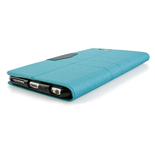 Quality Style Apple iphone 6 Case cover, Apple iPhone 6 Light Blue Designer Style Wallet Case Cover