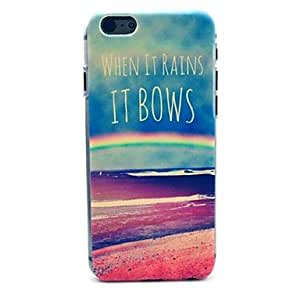 ZL Colours of The Rainbow Pattern Plastic Hard Cover for iPhone 6 Plus