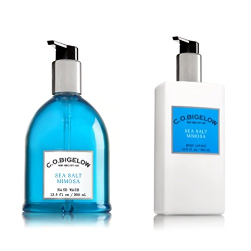 C.O. BIGELOW - Bath & Body Works GIFT SET- New scent collection of unisex fragrance,SEA SALT MIMOSA,11.6 FL oz. body lotion,13.3 oz,hand wash..!!...