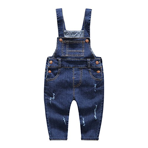 (Kidscool Baby & Little Boys/girls Soft Blue Denim Overalls)