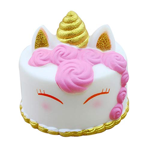 Oldeagle Jumbo Cartoon Unicorn Cake Scented Slow Rising Pressure Squeeze Stress Reliever Toy for Kids and Adults -