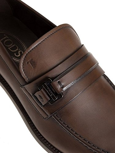 Tod's Homme XXM0XR0Q670D9CS801O Marron Cuir Mocassins *Damaged Box*