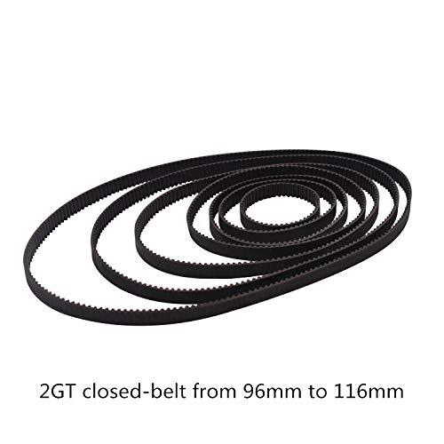 BEMONOC 2GT Timing Belt L=340mm W=6mm 170 Teeth in Closed Loop 2GT Rubber Conveyor Belts Pack of 10pcs Belts Power Transmission Products
