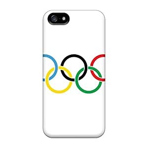 Fashion Protective Olympic Rings Cases Covers For HTC One M7