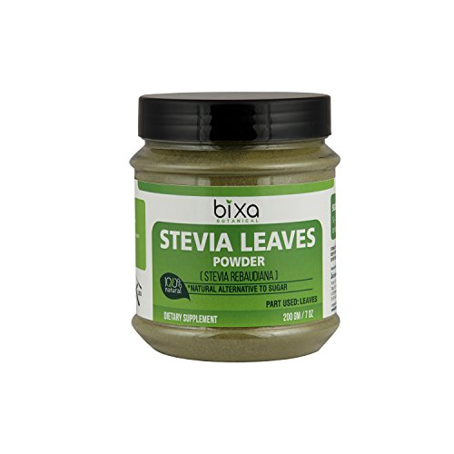 Stevia Leaf Powder (Stevia Rebaudiana) - Unprocessed Stevia Sugar ǀ Helps to Control Blood Sugar and Blood Pressure Level ǀ Natural Alternative to Processed Sugar ǀ (7 Oz / 200g) -