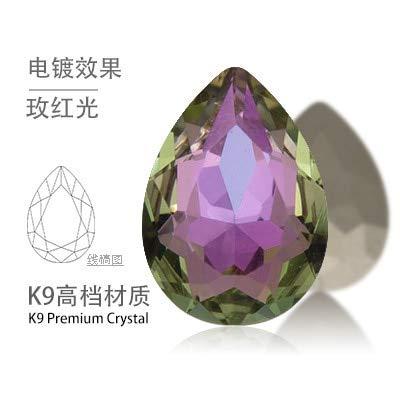 Calvas K9 10x14mm 13x18mm Teardrop K9 Glass Crystal Pointed Back Rhinestones More Colors - (Color: vitrail Light Color, Item Diameter: 13x18mm 20pcs) ()