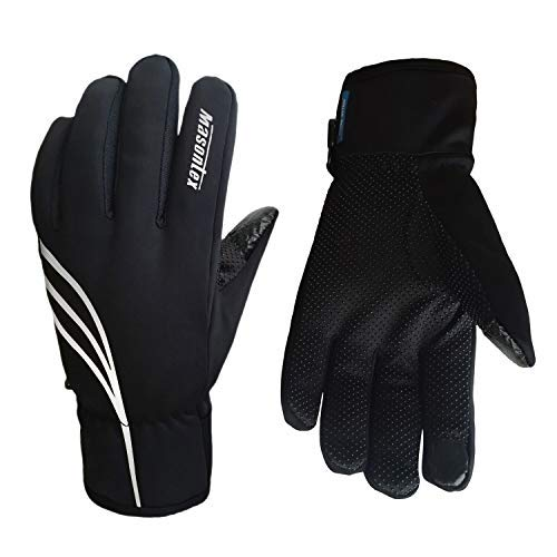 K-box Winter Gloves Waterproof Windstopper, Touch Screen Anti-Slip Cold Weather Thermal Gloves for Outdoor Running Cycling Riding Fishing Hiking, Hand Warmer Snow Gloves - for Women and Men - Thermal Gloves Waterproof