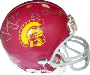 - Steve Smith Signed Mini Helmet - USC Trojans Replica 2x Champs - Autographed College Mini Helmets