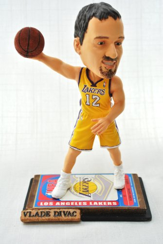 - LA Lakers NBA #12 Vlade Divac rare ticket base action Bobble Head