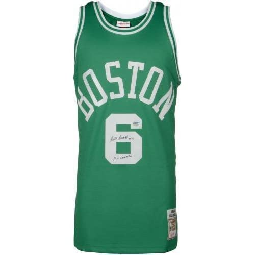 lowest price 66fbb 97d10 Framed Bill Russell Boston Celtics Autographed Green ...