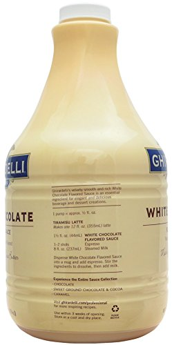 Ghirardelli White Chocolate Flavored Sauce 89.4 Ounce with Ghirardelli Pump and Spoon by By The Cup (Image #3)