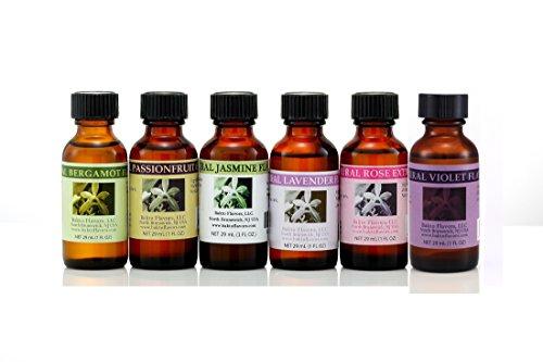 Floral Collection - 6 (1 FL OZ) Bottles - Bergamot, Passionfruit, Jasmine, Lavender, Rose, Violet by Bakto Flavors (Image #1)