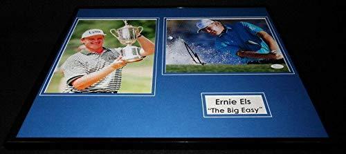 Ernie Els Signed Photo - Framed 16x20 Set The Big Easy - JSA Certified - Autographed Golf Photos