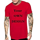 Casual Tops for Men,Fashion Men Casual Summer Skull Print Short Sleeve O-Neck Tops Blouse T-Shirts,Red,S