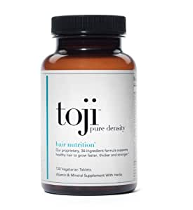 Toji: Pure Density | Hair Vitamin Supplement | w/ Special 34 Ingredient Healthy Hair Support Formula - Includes Biotin, DHT Blocker, Horsetail, and Eclipta Alba (Herbal Minoxidil Alternative) | Supports Healthy Hair to Grow Faster, Thicker, and Stronger For Men and Women