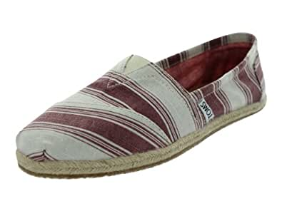 TOMS Women's Classics Umbrella Stripe Shoe Shiraz Size 5 B(M) US