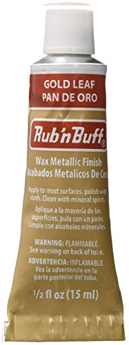AMACO Rub 'n Buff Wax Metallic Finish, Gold Leaf, 0.5-Fluid Ounce ()