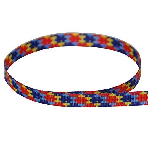 Puzzle Piece Ribbon - 3/8