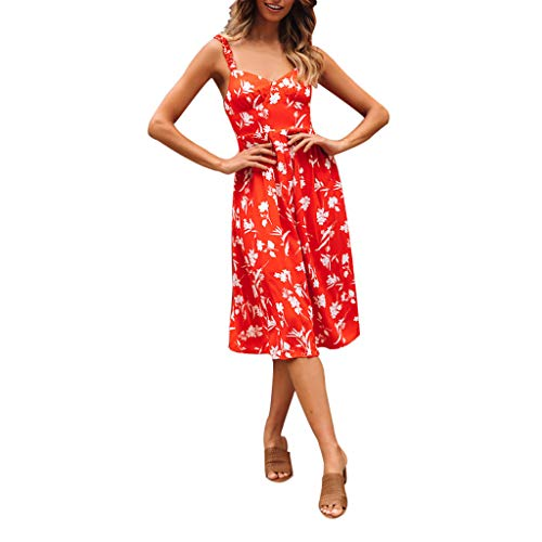 LISTHA Sleeveless Floral Maxi Dresses for Women Cold Shoulder Striped Princess Dress