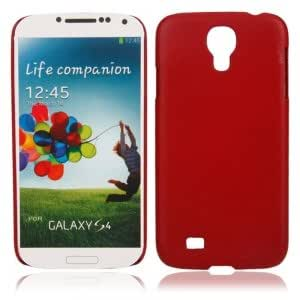 Plastic Hard Protective Case with Lines for Samsung S4 i9500 Red