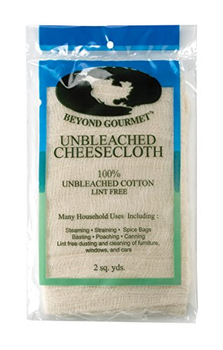Beyond Gourmet 044 Extra-Fine Unbleached Cheesecloth, 100-Percent Cotton, 2-Square Yards