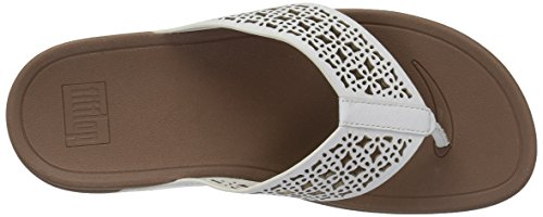 White fitflop Floral Women's Urban Flop Surfa Leather Lattice Flip Fwx8rfvwqI