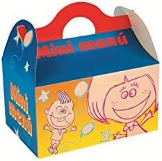 Caja para menú infantil - cumpleaños - fiestas - pack 25 und ...