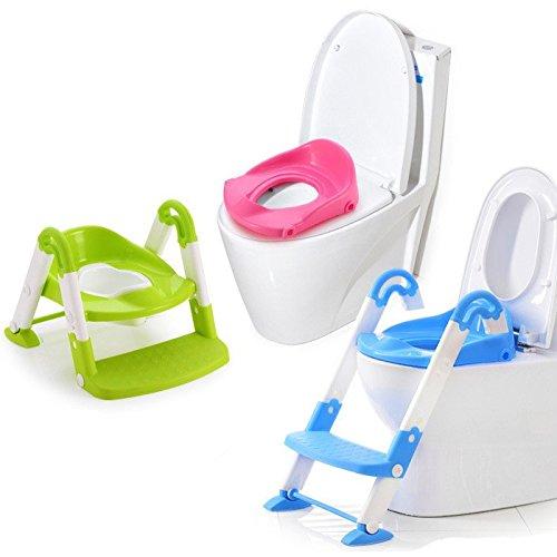 Gr/ün T/öpfchen Toliettentrainer mit Leiter Baby // Kinder Toilette Topf