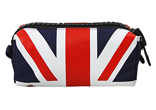 UK Flag Zipper Pouch Bag,Large Capacity Canvas Pen Pencil Case Bag Cosmetic Organizer School Stationary Bag,Makeup Bag for Women,Back to School Gifts for Girls - Square Union Gift Card